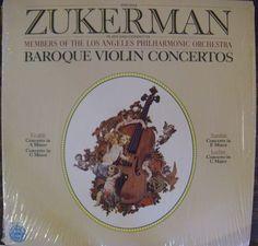 "Pinchas Zukerman / Baroque Violin Concertos / LAPO / 12"" Vinyl LP Record #ConcertoSymphony #ClassicalMusic #Album"