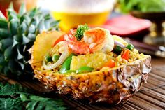Special Thai Fried Rice With Pineapple and Prawns