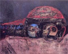 Lucio Muñoz - Abstraccion - 1968. Oil on wood.