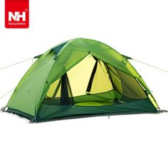 Naturehike Windproof Waterproof Anti UV Double Layer Tent Silicone Ultralight Outdoor Hiking Camping Tent for two person Camping Tarp, Hiking Tent, Best Tents For Camping, Backpacking Tent, Camping And Hiking, Outdoor Camping, Family Camping, Camping Knife, Camping Equipment