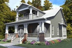 Craftsman Style House Plan - 3 Beds 3 Baths 2296 Sq/Ft Plan #63-380 Exterior - Front Elevation - Houseplans.com