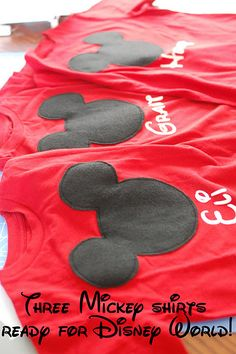 make your own matching mickey mouse shirts for Disney world :)