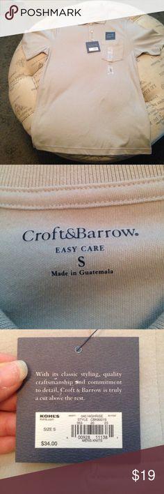 NWT Croft & Barrow gray polo shirt size small Brand New with tags Croft & Barrow gray polo shirt size small sku 952 croft & barrow Shirts Polos
