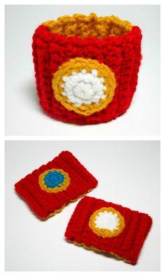 Iron Man Power Cuff. Iron Man Inspired Crochet Wristband. Tony Stark. Crochet Marvel Accessory. Cosplay.. $10.00, via Etsy.