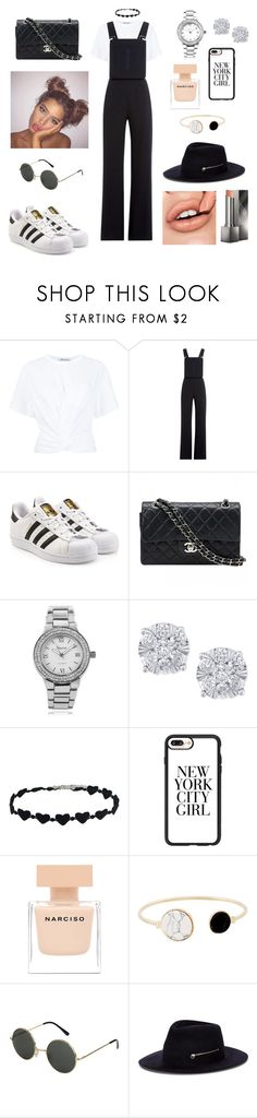 """""""Untitled #266"""" by alessian ❤ liked on Polyvore featuring T By Alexander Wang, See by Chloé, adidas Originals, Chanel, Geneva, Effy Jewelry, Casetify, Narciso Rodriguez, Larose and Burberry"""