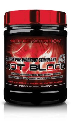SCITEC HOT BLOOD 3.0 - Pre-Athletic or Workout Supplement (820 grams) – DXHIVE Vanity Annihilate the competition with HOT Blood 3.0 pre-workout! 5 CREATINES • L-CARNITINES • AMINO ACIDS • VITAMINS • MAGNESIUM CITRULLINE MALATE AND AAKG • CAFFEINE AND BETA-ALANINE • WITH BIOPERINE #dxhivevanity#scitec#nutrition#gym#gymaddicted #bodybuild#muscules#worcoutstimulant