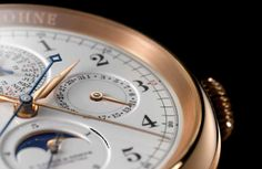 "At the ""Grand Prix d'Horlogerie de Genève"" the 1815 RATTRAPANTE PERPETUAL CALENDAR by A. Lange & Söhne received not one but two awards during a gala event held at the Grand Théâtre in Geneva on 15 November. The international 23-mem­ber expert jury selected it as winner in the category ""Grand Complication"". For the first time in the history of the competition, a non-Swiss watch brand was honoured in this category."
