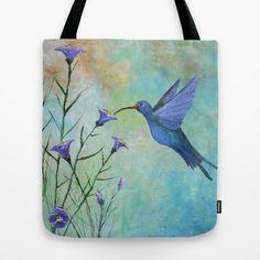 HUMMINGBIRD don't FLY AWAY FLY AWAY Tote Bag by Rokin Art by RokinRonda - $22.00