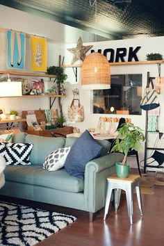 Gather: Coworking/Coffee Shop/Boutique in Cary, NC -space owned & designed by Michelle Smith, photo by Amanda Wright