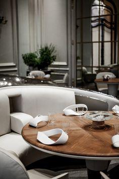 """Alain Ducasse au Plaza Athénée"" Restaurant in Paris #exclusivedesign #luxurydesign For more inspirations: www.bocadolobo.com home furniture, designer furniture, inspirations ideas, exclusive furniture, design ideas, home decor ideas, interior design ideas"