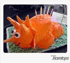 Triceratops Cake for my Sons 5th