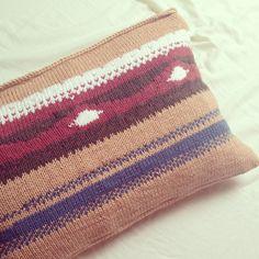 handmade knitted pillowcase