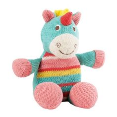 Lily & George have a sweet and fun collection of colourful knit toys that are full of character. They make a lovely friend for any new baby or little one. Tia the Unicorn features a soft waffle knit and measures 22cm sitting