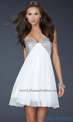 La Femme Short Strapless Prom Dress at SimplyDresses.com my bachelorette dress for sure