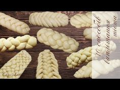 10 ways to weave bread or rolls. Braided Bread, Bread Bun, Bread Plait, Ukrainian Recipes, Jewish Recipes, Turkish Recipes, Croissant Recipe, Bread Shaping, Baking Basics