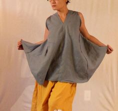 plus size custom linen origami seam flare by annyschooecoclothing, $118.00
