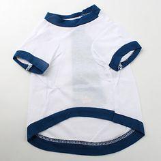 Camiseta de Corbata y Franjas de Algodón para Perritos (XS-M Blanca) 2016 – €3.99