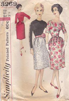 Hübsches Kleid der 1950er Jahre Muster von OneMoreCupOfTea auf Etsy