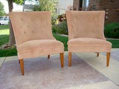 Set of 2 wingback chairs (fairfield / vacaville) - $150
