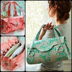 DIY Sewing Blossom Handbag:Shoulder Bag with Free Pattern