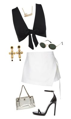 """Untitled #180"" by eviebull on Polyvore featuring Dion Lee, Yves Saint Laurent, Dolce&Gabbana, Ray-Ban, Gucci and Chanel"