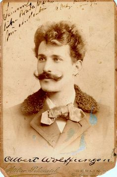 The 'stache, that hair, those piercing eyes - he's marvelous! #Victorian #portrait #man