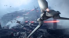 Star Wars: Battlefront | An Imperial shuttle attempts to escape the pursuit of Rebel forces.