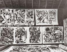 Hans Namuth, estudio de Jackson Pollock.  Foto: © 1991 Centro Cortesía Hans Namuth Estate for Creative Photography, la Universidad de Arizona.