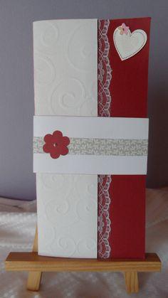 Carte mariage avec porte chèque : Cartes par made-by-newscrapeuse