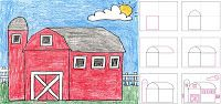 Art Projects for Kids: How To Draw a Country Barn