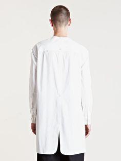 Yohji Yamamoto - White Mens Cotton Tunic Shirt for Men - Lyst Unisex Fashion, Mens Fashion, Tunic Designs, Cotton Tunics, Tunic Shirt, Yohji Yamamoto, Japan Fashion, White Shirts, Fashion Details