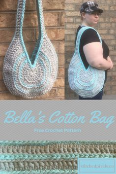 I have been seeing the bulky cotton yarn in stores for a while now, and have been trying to figure out what to make with it other than washcloths and hot pads. Then I saw a beautiful round purse, and knew exactly what I had to make. I love how thick and sturdy the bag is. You could carry around text books in it if you wanted to! I think I will stick to bringing more yarn with me everywhere I go.