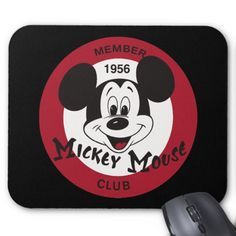 Another true classic with this Classic Mickey Mouse Vintage Mouse Pad from the 1956 Mickey Mouse member club. Click to watch this cool Mouse pad that tells you what it really is, a Mouse pad!