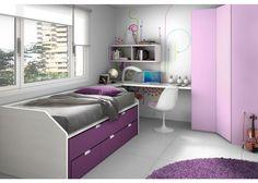 Dormitorio juvenil con novedoso compacto F1