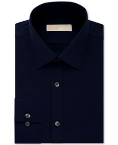 Michael Michael Kors Men's Slim-Fit Non-Iron Houndstooth Dress Shirt