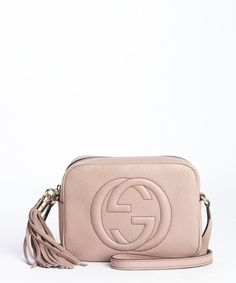 Gucci pink patent leather 'Disco' GG fringe detail shoulder bag