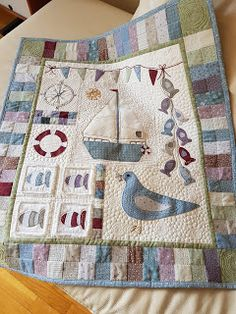 Patchwork Allsorts: An update on my nautical quilt. The Effective Pictures We Offer You About patchwork quilting children A quality picture can tell you many things. You can find the most beautiful Baby Patchwork Quilt, Cot Quilt, Baby Boy Quilts, Mini Quilts, Applique Quilts, Coastal Quilts, Country Quilts, Applique Wall Hanging, Quilted Wall Hangings