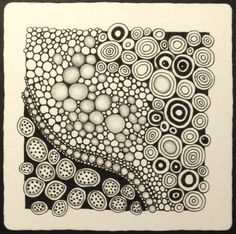 Simple Zentangle Patterns | Tangles used: tipple, onamato, and Margaret Bremner's lotus pods ...