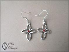 Drop Earrings, Jewelry, Red Glass, Crystals, Jewlery, Jewerly, Schmuck, Drop Earring, Jewels