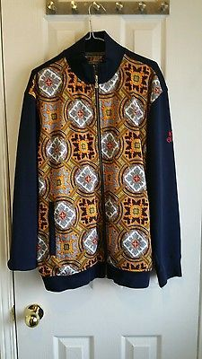 Enyce Navy blue multicolor zipper jacket size large