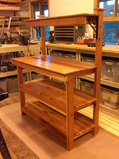 Potting bench plans free Free Newsletter Material lists Three tier potting bench features a wire mesh backing that keeps If you plan to leave it outdoors Woodworking, Decor, Potting Bench Plans, Furniture, Home, Pallet Furniture, Wood Projects, Potting Tables, Bench Plans