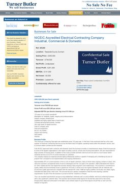 Business for sale NICEIC Accredited Electrical Contracting Company  Industrial, Commercial & Domestic Ref. GK280 Location Teesside/County Durham Asking Price £250,000 RupertCattell TurnerButler we sell business Rupert Cattell Business for sale Turner Butl