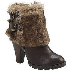 Delicious -Women's Chaka Fur Cuffed Boot - Brown/Tan