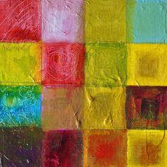 "Garden 16 Squares by Matthew Seigel | $100 | 8""w x 8""h | Original Art | http://www.vangoart.co/buy/art/garden-16-squares @Vango"