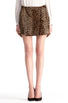 Melissa Haircalf Skirt in cheetah pony, Fall 2012: Rendez-vous