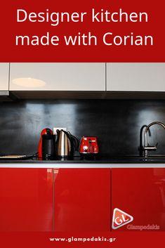 Designer #kitchen made with #Corian!
