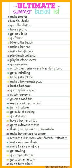 summer bucket list ideas& 35 things to do this summer! summer bucket list ideas& 35 things to do this summer! The post summer bucket list ideas& 35 things to do this summer! appeared first on Pink Unicorn. Summer Fun List, Summer Bucket, Summer Time, Summer Things, Summer Nights, Beach Bucket, Summer Beach, Fun Things, Summer Dates