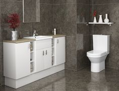 Alpine - Alpine has a simple yet effective style and works fantastically to provide storage in cloakrooms and en-suites. It's easy to clean and is sure never to go out of style.