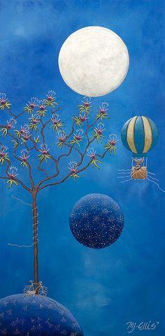 Conversations w t Moon XVII by Mariann Johansen Ellis, via Flickr