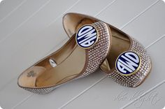 Initial Perfection monogrammed shoe clips! Im in live with these! They will become mine :)